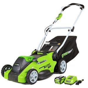 GreenWorks 25322 G-MAX 40V 16-Inch Cordless Lawn Mower